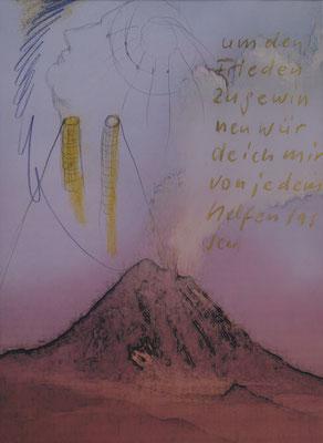 """Ingo Lie, """"Um den Frieden..."""", Digitalzeichnung, 40x30 cm"""