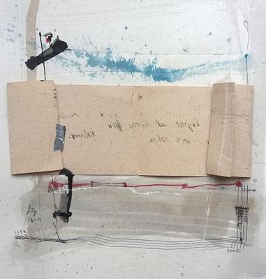 "Andreas Spengler, ""16-04"", Löschpapier-Collage, 30x40 cm"