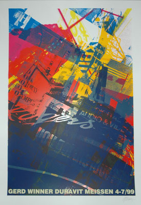"Gerd Winner, ""Times Square"", Siebdruck, 100x70 cm"