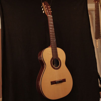 Classical guitar recently finished.