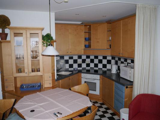 Die Einbauküche, für bis zu 4 Personen