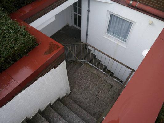 Die Treppe der Residenz Meeresbrandung