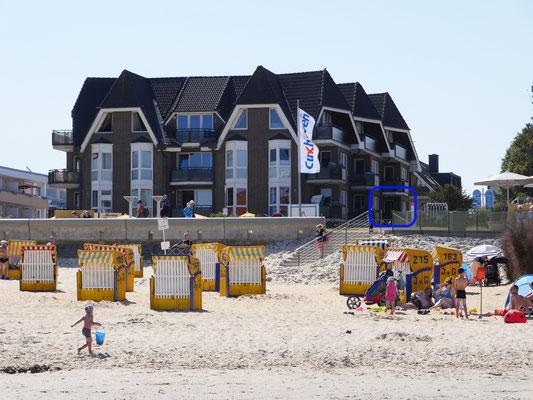 Die Lage der Ferienwohnung Nr. 22 in der Residenz Meeresbrandung