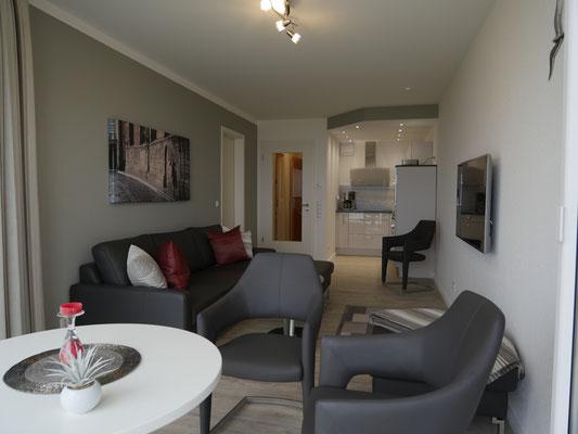 Modern und komfortabel ist die Ferienwohnung Nr. 319 im Strandpalais Duhnen