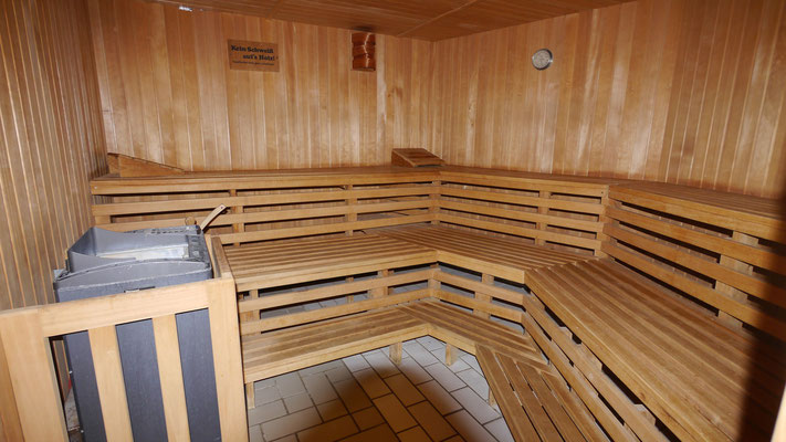 Die geräumige Sauna in der Residenz Meeresbrandung