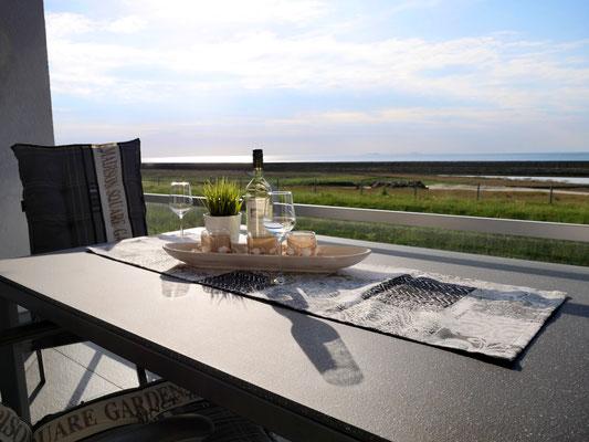 Der Fantastische Meerblick aus der Ferienwohnung Nr. 13 Residenz Windjammer