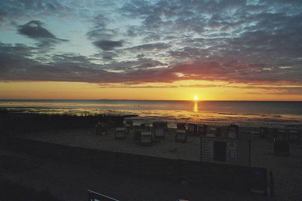 Sonnenuntergang im Watt vor der Ferienwohnung