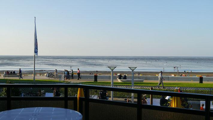 Der Blick vom Balkon der Ferienwohnung Nr. 19, Residenz Meeresbrandung