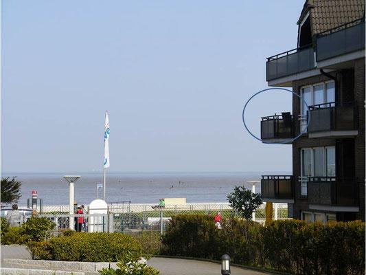 Die Lage der Ferienwohnung Nr.28 in der Residenz Meeresbrandung