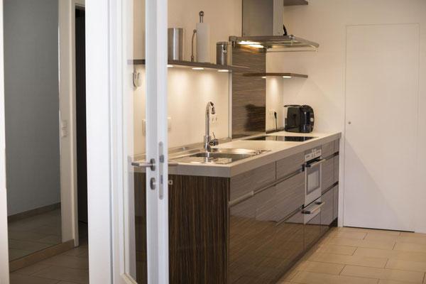 Strandpalais Duhnen Ferienwohnung Nr 20, die hochwertige Küche