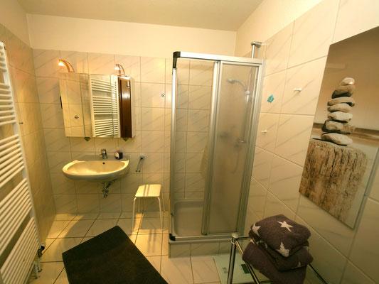 Das Badezimmer der Ferienwohnung Nr. 22
