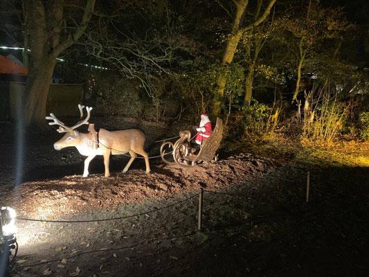 das Rentir mit dem Weihnachtsman in Cuxhaven
