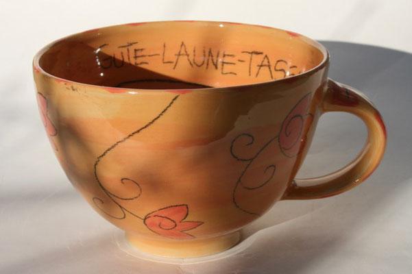 "Milchkaffeetasse ""Tulpe""  orange  Artikelnummer 1706  /   22 €"