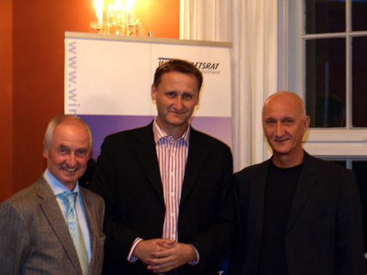 Lesung im Rektorat der TU Dresden, 19.10.2012 (v.l.n.r. Peter Pragal, Dirk Kohl, Jozef Banás)