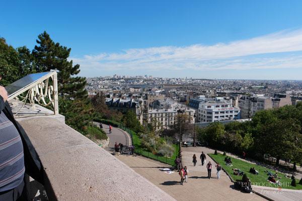 Bild: Ausblick von Basilique du Sacré Coeur de Montmartre