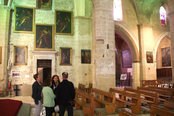 Bild: in der Kirche von Roquemaure