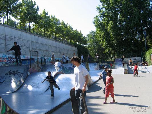 Bild: Skaterbahnen im Park de Bercy