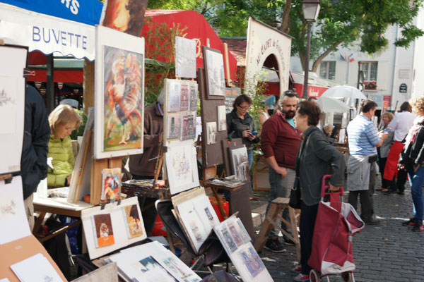 Bild: Place Tertre in Paris