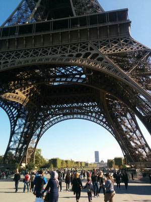 Bild: die Konstruktion des Eiffelturm