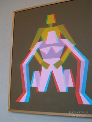 Bild: Kunstausstellung in La Grande Arche, Paris
