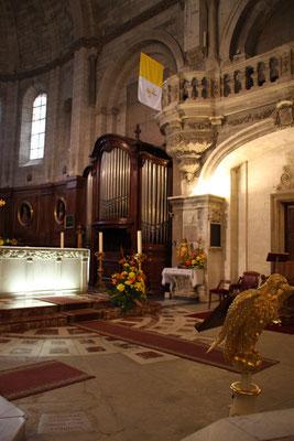 Bild: Chor-Orgel in der Cathédrale Notre Dame des Domes in Avignon