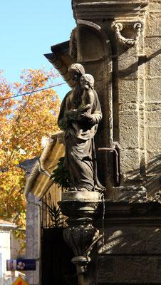 Bild: Figur an einer Hauswand in Cucuron,Vaucluse, Provence