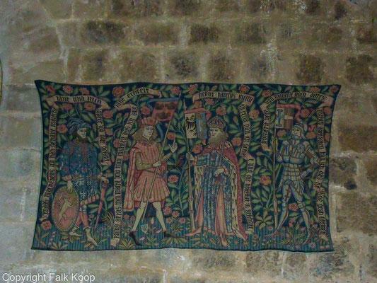 Bild: Tapisserie in der Burgruine Puivert