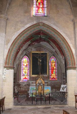 Bild: Seitenaltar in der Kirche von Roquemaure