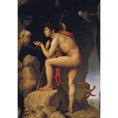 INGRES, Œdipe explique l'énigme du Sphinx (1827)