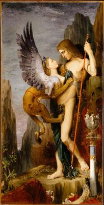 MOREAU, Œdipe et le sphinx (1864)