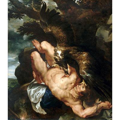"""""""Prométhée enchaîné"""" - Rubens - XVI°s - Huile sur toile"""