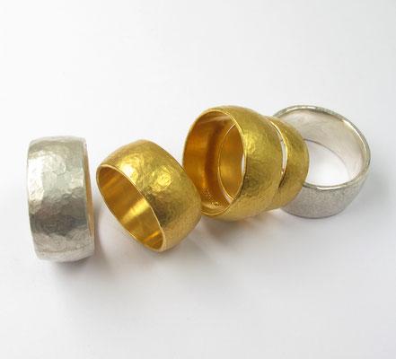 Ehe und Paarringe in purem Gold und purem Silber