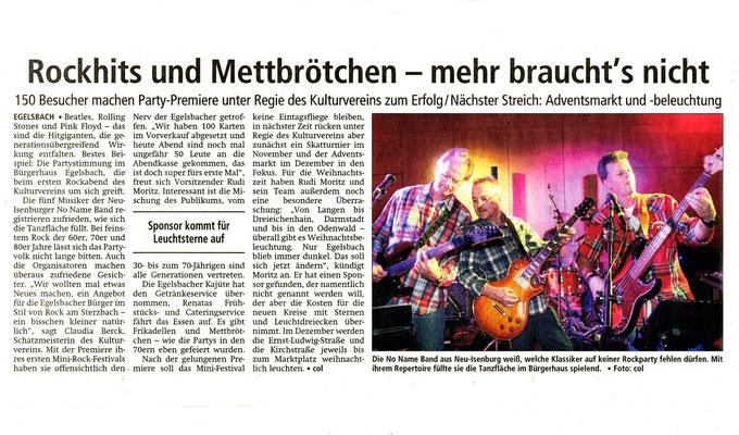 Offenbach Post, 20. Oktober 2015