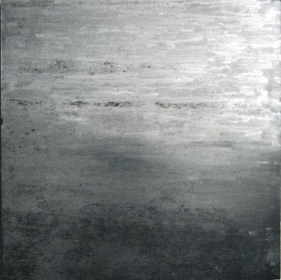 """""""o.T."""", 2004, 100x100cm, Stahlblech geschliffen"""