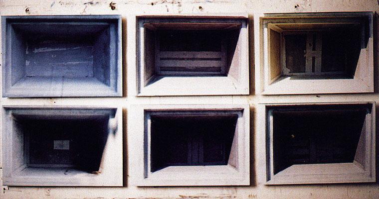 """indiehänden"", 1994-2001 (6x) 42x61x1cm Digital Print auf Aluminium"