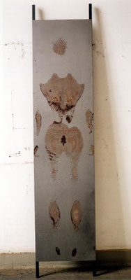 """""""niclas"""", 2001, 226x50x12cm, Schweiß auf Stahl"""