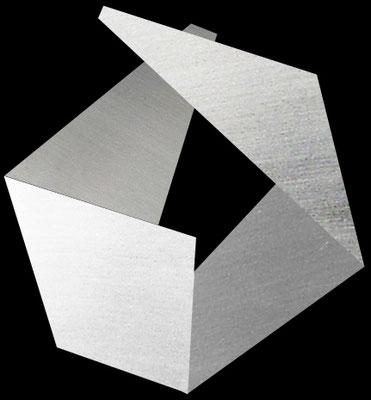 """""""o.T."""", 2016, 120x130cm, Aluminium geschliffen"""