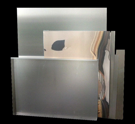 """o.T."", 134x148cm, 2011, Aluminium"