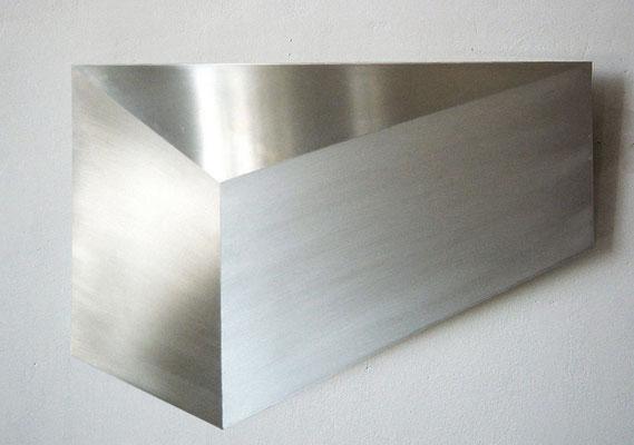 """""""o.T."""", 100x70 cm, Aluminium geschliffen, 2010"""