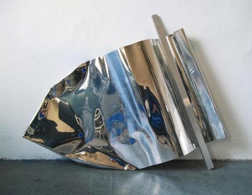 """o.T."", 134x93cm, Aluminium poliert, 2011"