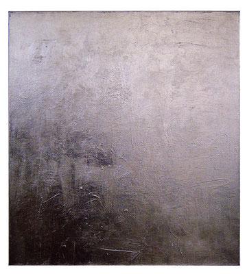 """""""o.T."""", 2008, 80x120cm, Acrylfarbe auf Molino, Blatt-Aluminium"""
