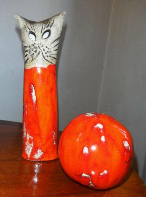 Katze und Kugel