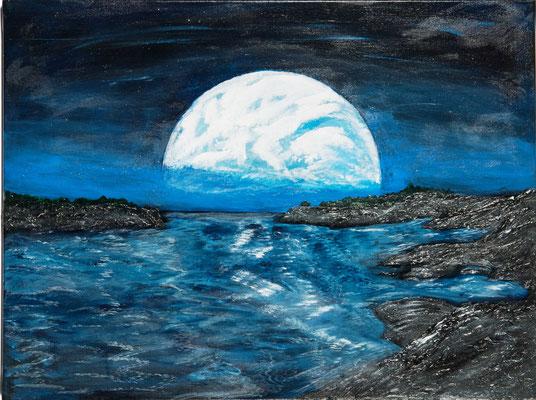 Mond küsst Erde