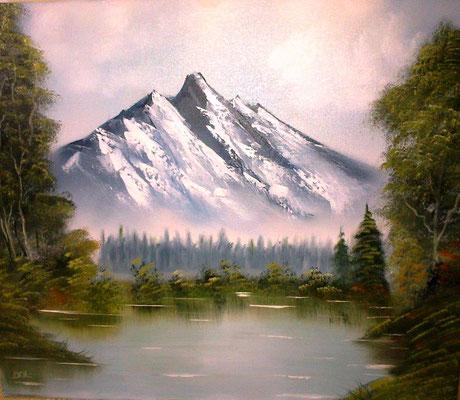 Bergsee (nach Bob Ross)