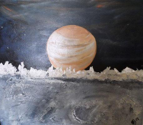 Merkur über Mond