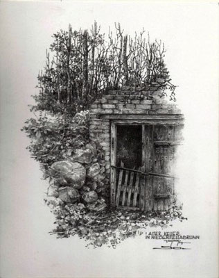 verödeter Keller in Fellabrunn Bleistift 15x19 cm €360,-