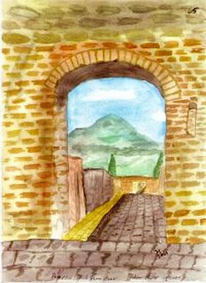 Pompeji, Blick auf Vesuv