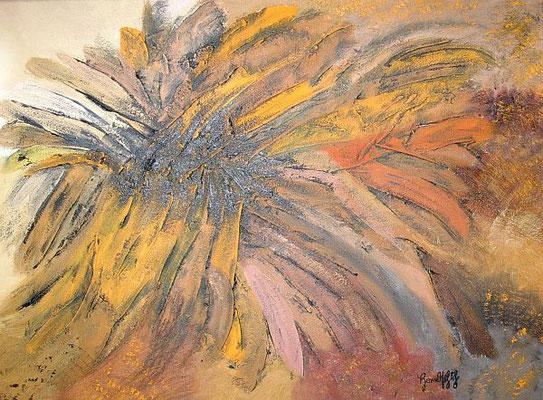 Sonnenblume Öl auf Baumwolle