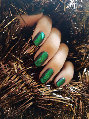 CND SHELLAC natuurlijke nagel met glitter