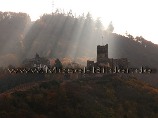 Burg Landshut in der Herbstsonne